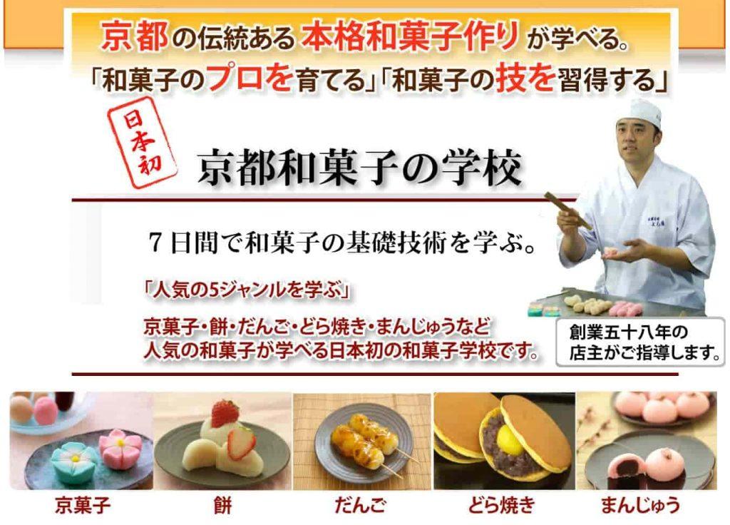 京都,和菓子,学校,短期間で学ぶ,職人,和菓子のプロ